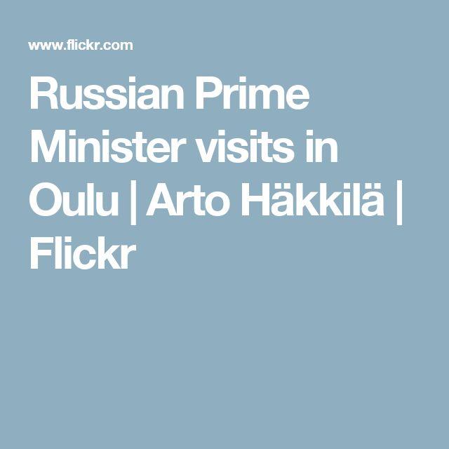 Russian Prime Minister visits in Oulu | Arto Häkkilä | Flickr