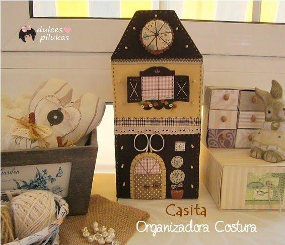 Casita Organizadora Costura | Aprender manualidades es facilisimo.com
