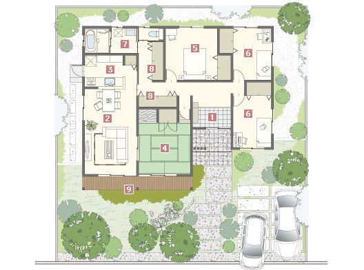 HIRAYA 代表プラン Japanese ジャパニーズ MJウッド ミサワホームの耐震木造住宅