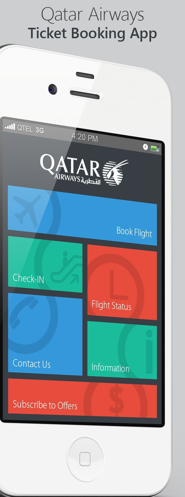 Qatar Airways Ticket Booking App by Amol Hadkar