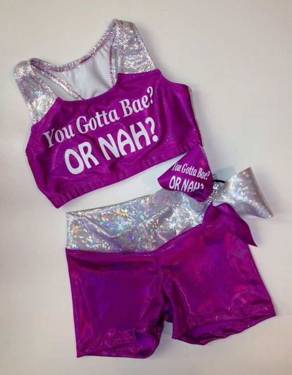 You gotta bae Or nah Cute customized cheer by TooFlippinCutebyBarb, $54.00