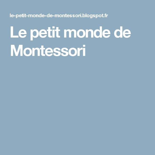 Le petit monde de Montessori
