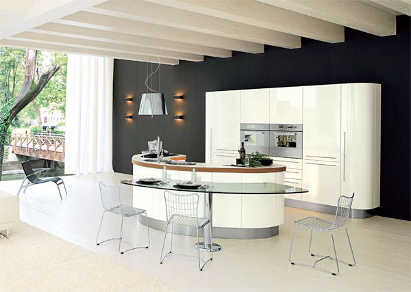 Kitchen Designs Amazing Design Of Kitchen With Glass Table And Chairs And Good Appliances In