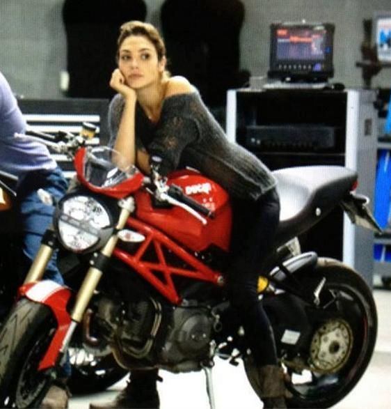Gal Gadot- served in the Israeli Defense Forces, rides a Ducati monster, and plays Wonder Woman in the upcoming Zak Snyder movie!