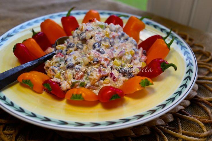 Cheesy Fiesta Corn Dip - La Bella Vita Cucina