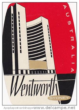 sydney vintage Hotel Label