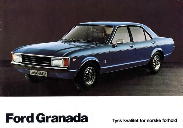 Norwegian Ford Granada advert from 1976