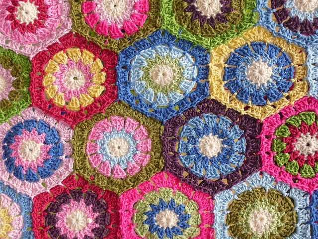 121 besten Crochet hexagons / Granny hexagons Bilder auf Pinterest ...