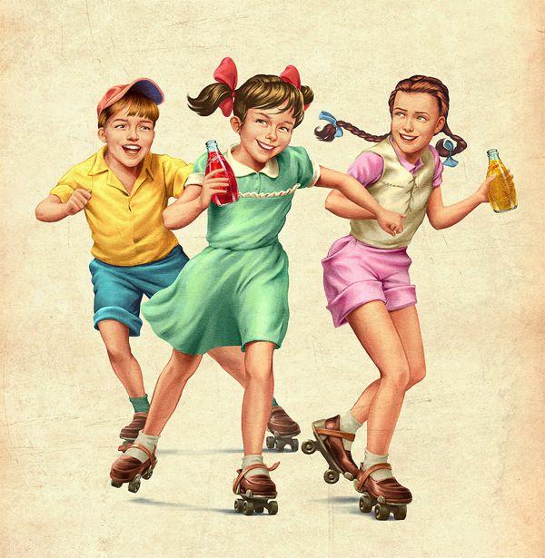 17 Best images about Vintage Kids (illustrated) on Pinterest ...