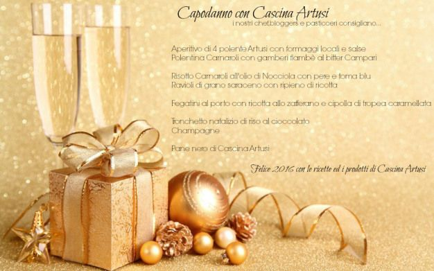 Menu di Capodanno con i prodotti di Cascina Artusi