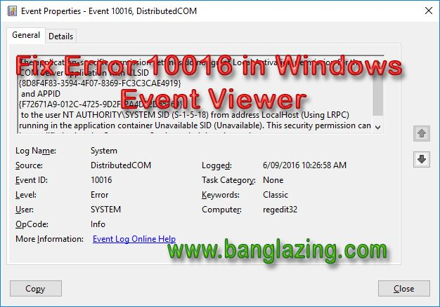 Fix Error 10016 In Windows Event Viewer Viewers Event Event Id