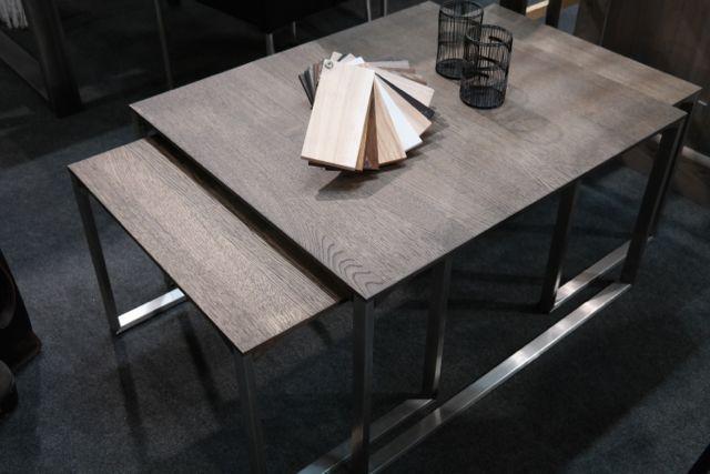 KOSTER Soffbord ek borstat stål 3 delar