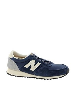 New Balance 420 Navy Suede Trainers