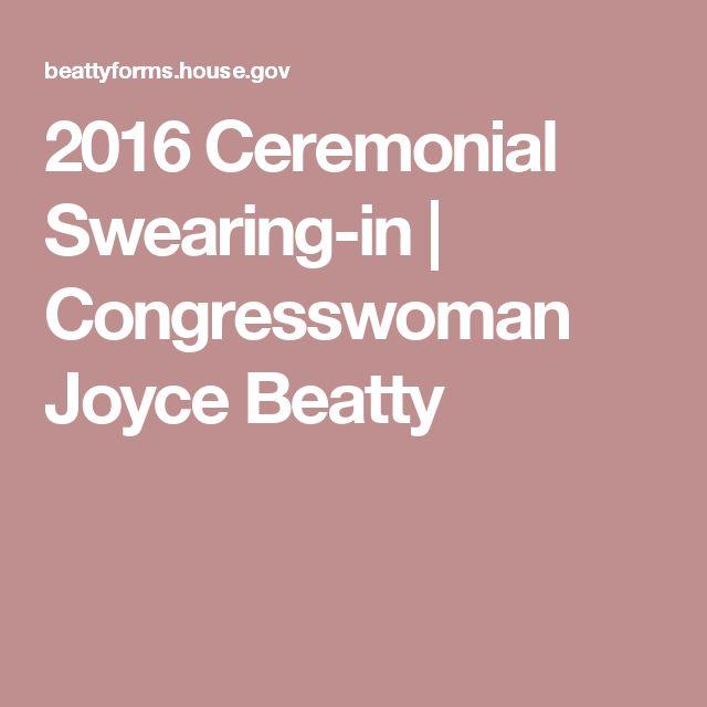 2016 Ceremonial Swearing-in | Congresswoman Joyce Beatty