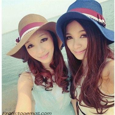 Women Summer Beach Wide Large Brim Sun Hat Visor Cap