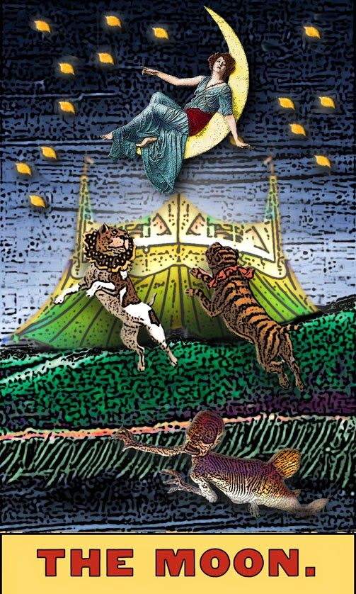 222 Best Images About Tarot 18-Moon On Pinterest