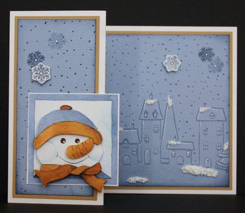 Marjoleine's blog: 4 kaarten met een sneeuwpop