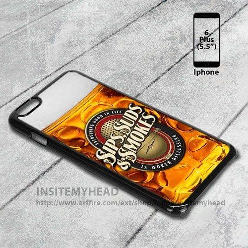 Iphone 6 Plus Case Beer Glass Sips Suds Beer Liquor Design