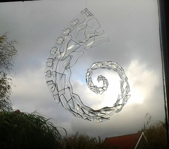 """Spiraal"" from Marsha Schellevis - she makes beautiful fused glass art!"