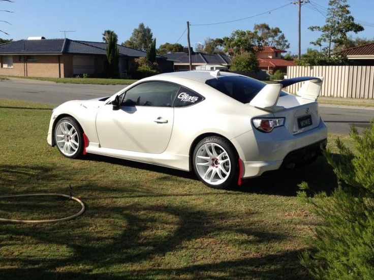 rally inspired white toyota gt 86 with aero kit and white. Black Bedroom Furniture Sets. Home Design Ideas