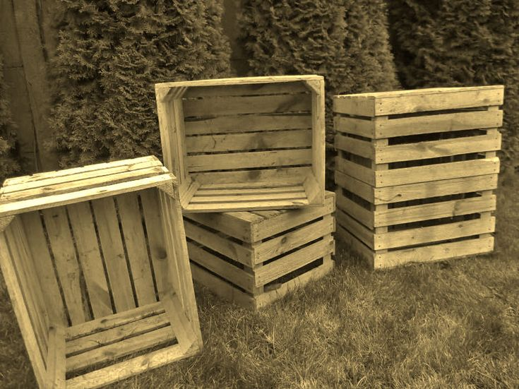 4 x VINTAGE WOODEN APPLE CRATES STORAGE BOX FRUIT CRATES BOX  | eBay