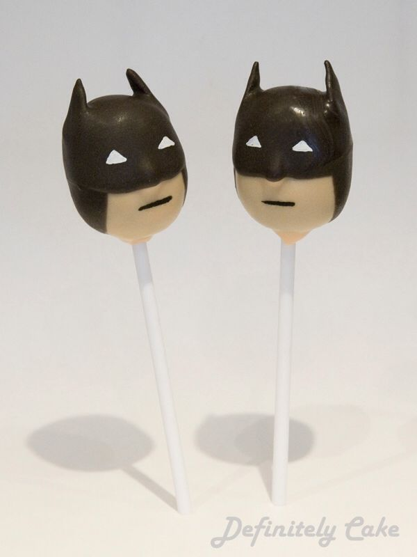 Batman Cake Pops, THESE ARE SO COOL!!!!!!!!!! Have to make these for my love