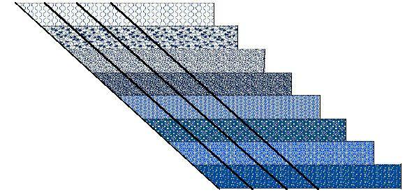 Lone Star Quilt Strip 54