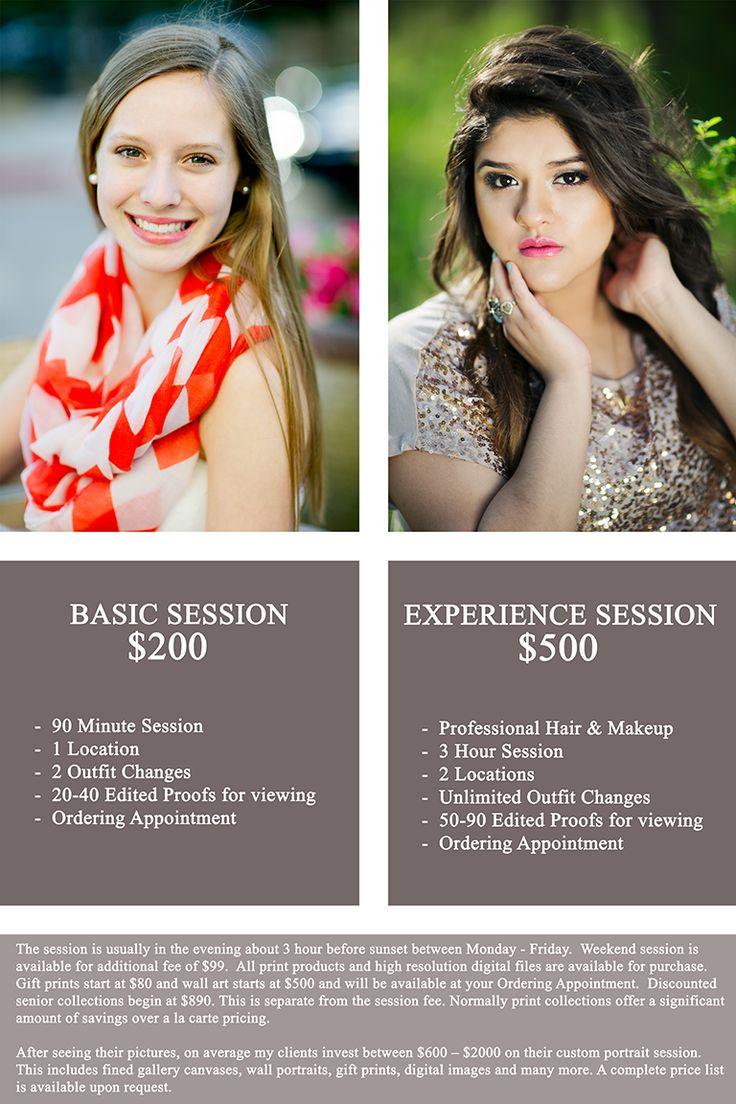 Senior Price for Dallas Senior Portraits. Contact Chantal Brown to book your senior portrait session!