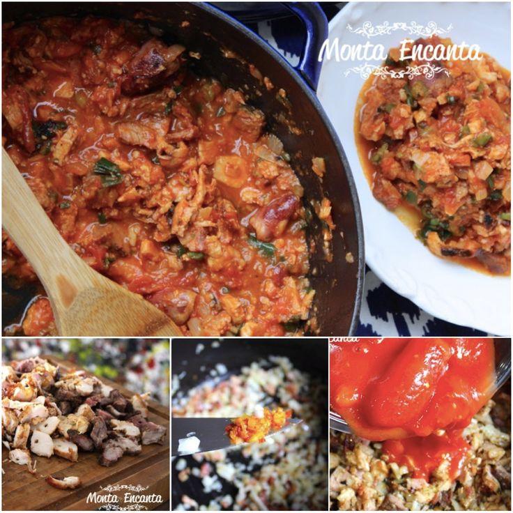 Reaproveitando as sobras do fds Molho de Carne de Churrasco Pode ser feito com carne bovina, suína ou de frango, ou ainda um MIX  de todas juntas! http://www.montaencanta.com.br/molhos/molho-com-carne-de-churrasco/