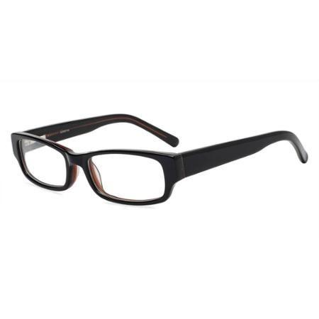 Contour Mens Prescription Glasses with Flex, FM11020 Black/Brown - Walmart Vision