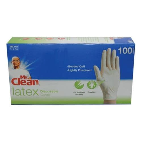 Mr Clean Gloves Latex Disposable All Purpose White Gloves 100 Count