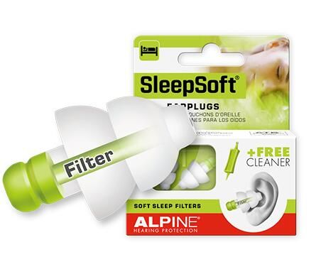 Alpine Sleepsoft Travel Sleeping Earplugs Anti Snore Earplugs Anti Noise Swim Ear Plugs