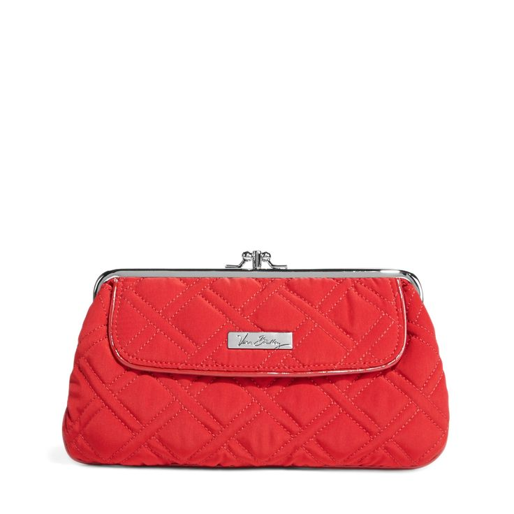 Kisslock Wallet in Tango Red with Red Trim, $58 I Vera Bradley