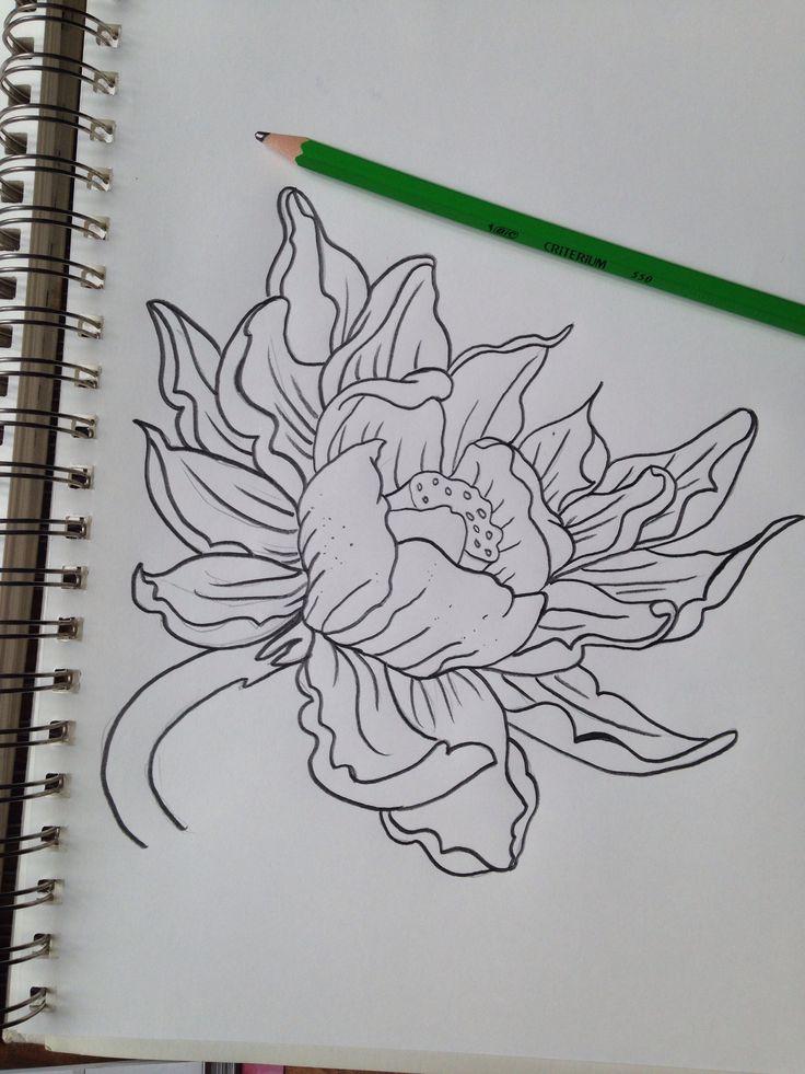 Dessin de fleur de lotus tattoos - Dessins fleur ...
