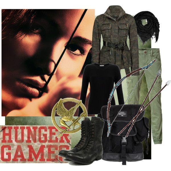 And then if I was in the Hunger Games, I'd wear this. If they let you choose your own outfit. They don't, so I'd just wear this around District 12, with Peeta. The boy with the bread.