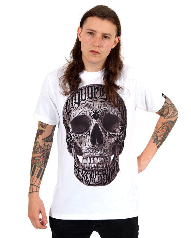 Liquor Brand LIVE FAST DIE Weiß Herren T-Shirt