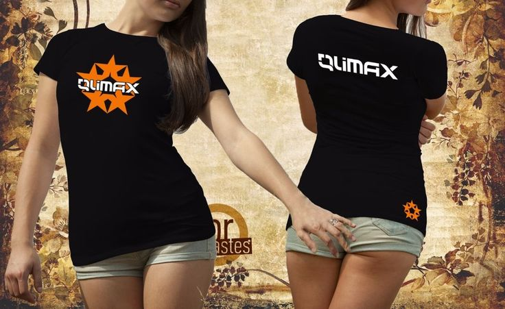 Qlimax Hardstyle Black Women's T-shirt (QL904w) #RUSSELL #PersonalizedTee