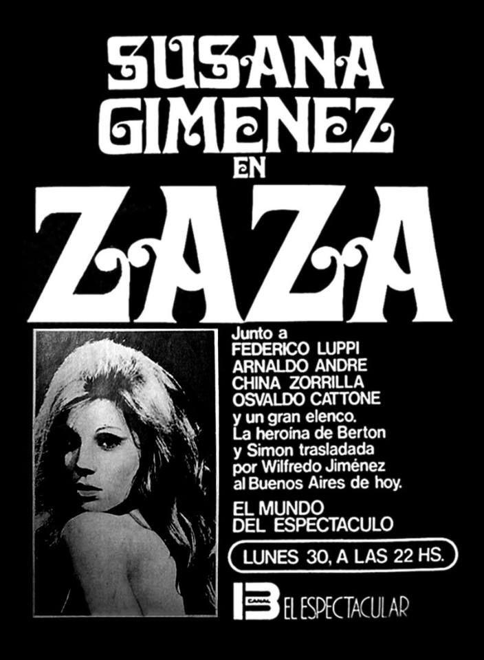 Publicidad de programación de CANAL 13, Buenos Aires, 1973.