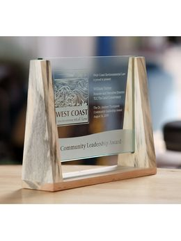 Panorama Plaque Award - Blueberry Pine - Green, Crystal or Glass Awards by Eclipse Awards