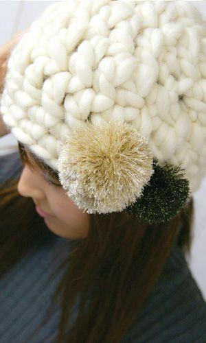 ニット帽かぎ編み