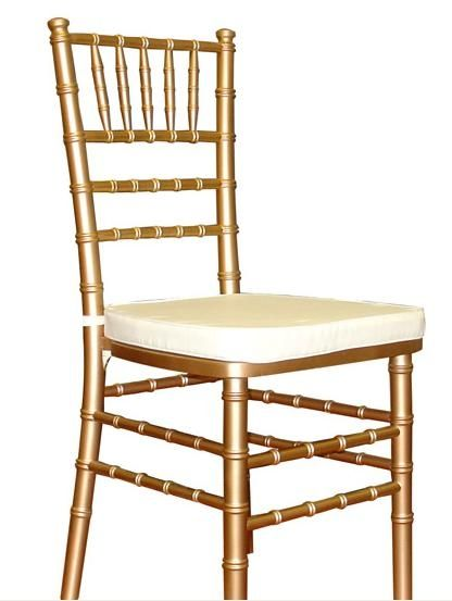 muted gold chivari chairs