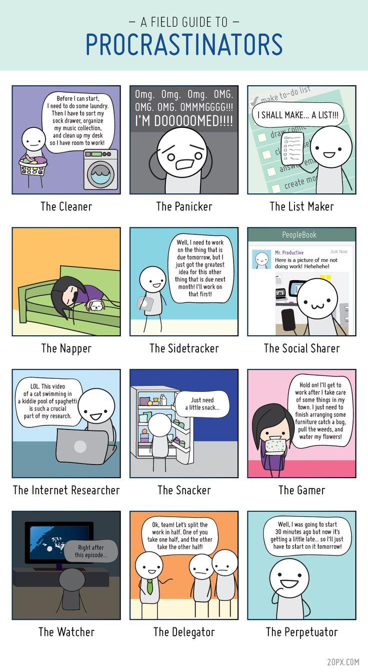A Field Guide to Procrastinators - Types of Procrastinators