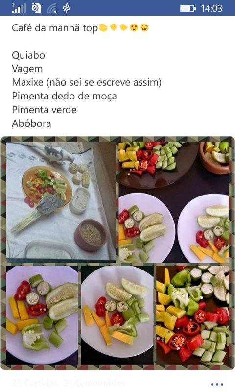 Alimentação de calopsita: Quiabo, Vagem, Maxixe, Pimenta dedo de moça, Pimenta verde e Abóbora