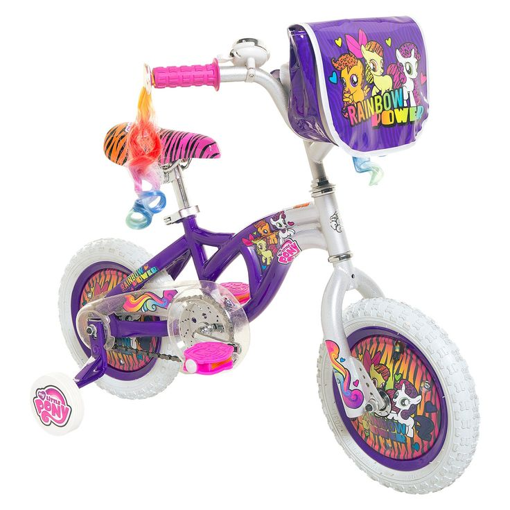 My Little Pony Girl's Bike - Purple/ White (12)