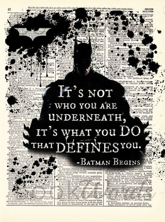 Why does the Dark Knight trilogy have so many great quotes that really, have a good meaning. Or make sense.