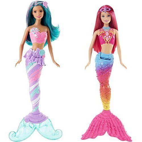 Barbie Mermaid Doll Candy Fashion and Mermaid Doll Rainbow Fashion Bundle...