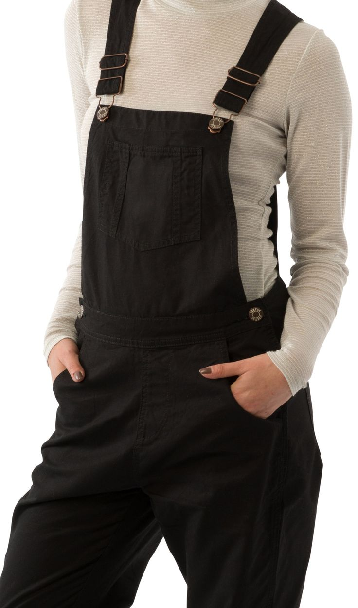 USKEES Amanda Regular Fit Ladies Dungarees - Black #LoveUS