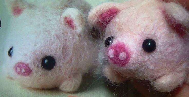 ダイソーの羊毛フェルト(アニマルキット)#5*ブタ*作ってみたよ ... ダイソーの羊毛フェルト(アニマルキット)#5*ブタ*作ってみたよ - YouTube