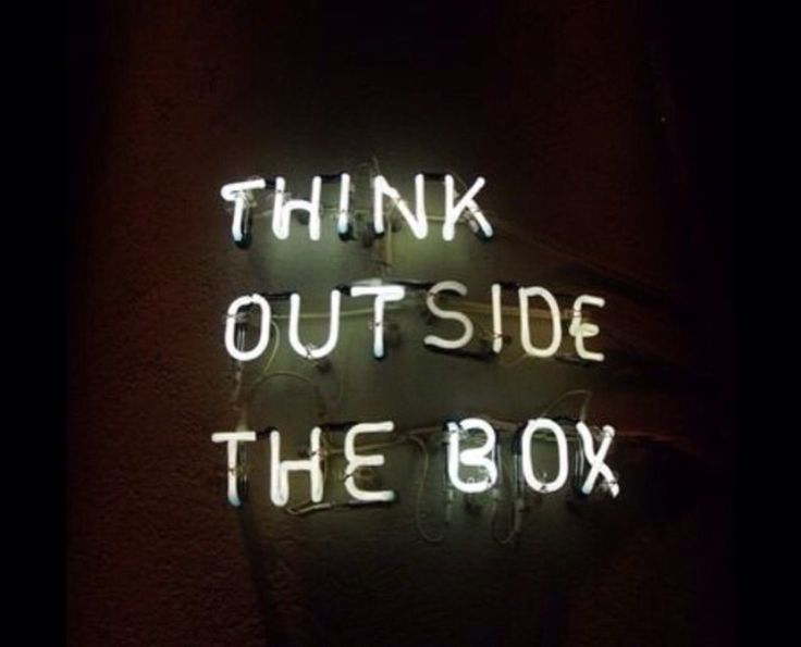 Think outside the box | neon