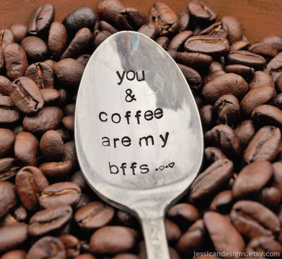 You & Coffee are my Bffs TM  Hand Stamped by jessicaNdesigns, #shopumbabox #handmade